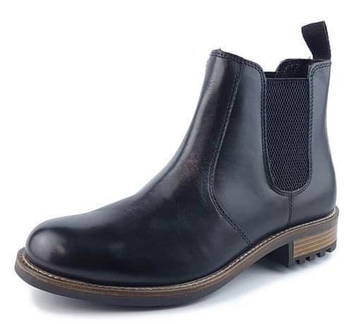 Frank James Loddington Leather Chelsea Boot Black